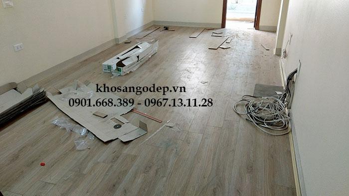 Thi Công Sàn gỗ Vfloor V1203 Tại Hải Phòng