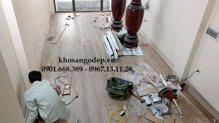 Thi công Sàn gỗ Vfloor V1203 Tại Hà Nội