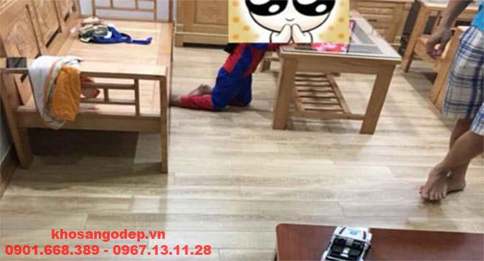 Thi công sàn gỗ Jawa 6701
