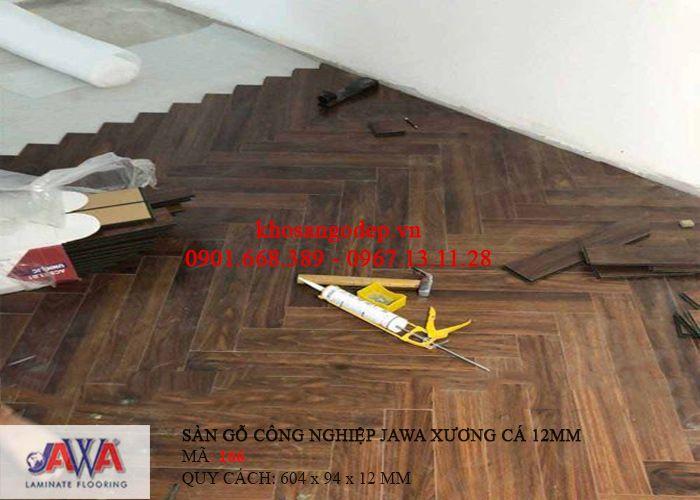 Thi công sàn gỗ Jawa xương cá 166