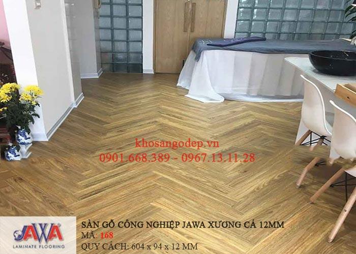 Thực tế thi công sàn gỗ Jawa xương cá168