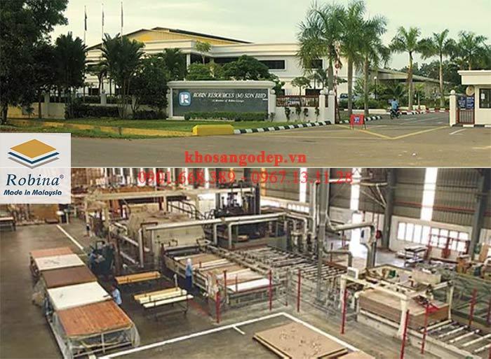 Nhà máy sản xuất sàn gỗ Robina