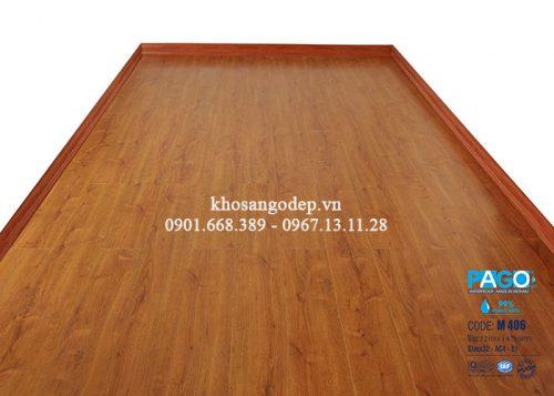 Thi công sàn gỗ Pago M406 tại Hoàng Mai