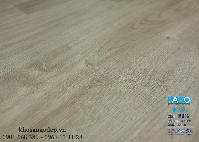 Sàn gỗ Pago cốt xanh M306 8mm