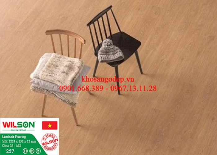 Sàn gỗ Wilson 12mm tại Ninh Bình