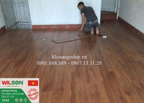 Sàn gỗ Wilson 8686 tại Hưng Yên