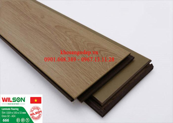 Sàn gỗ Wilson 12mm 666
