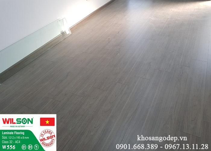 Sàn gỗ Wilson 8mm W556 tại Hà Đông