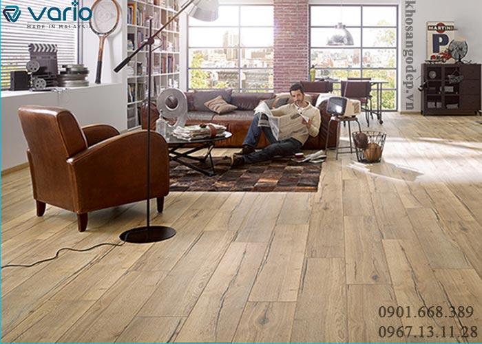 Sàn gỗ Vario thực tế thi công
