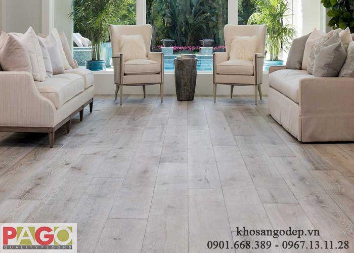 Sàn gỗ Pago cốt trắng
