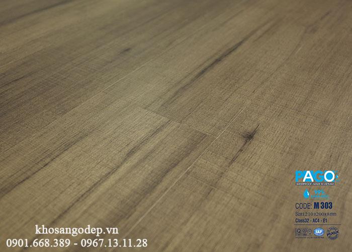 Thi công sàn gỗ Pago M303 tại Hà Đông