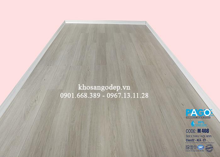Thi công sàn gỗ Pago M408 tại Linh Đàm