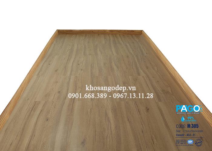 Thi công sàn gỗ Pago cốt xanh M305 tại Hoàn Kiếm
