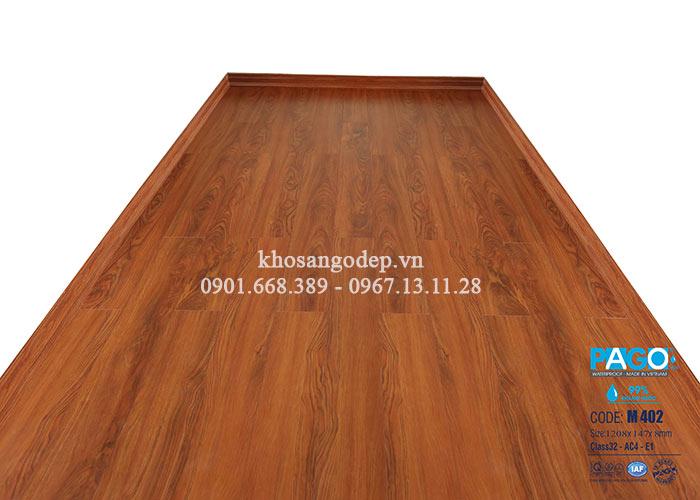 Thi công sàn gỗ Pago M402 tại Hà Đông