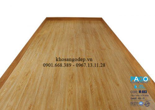 Thi công sàn gỗ pago M403 tại Long Biên