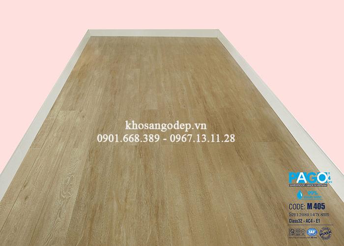 Thi công sàn gỗ Pago M405 tại Hoàng Mai