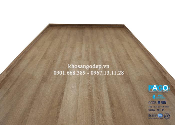 Thi công sàn gỗ Pago M407 tại Hà Đông