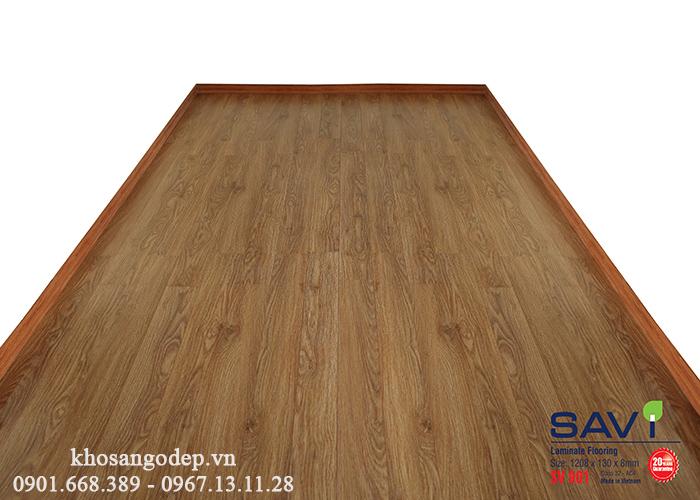 Thi công sàn gỗ Savi SV901 tại Long Biên
