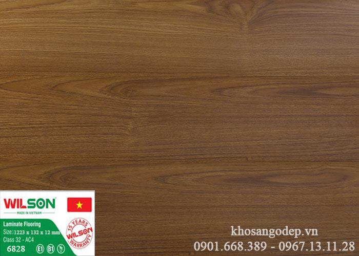 Sàn gỗ Wilson 12mm 6828 tại Hà Nội