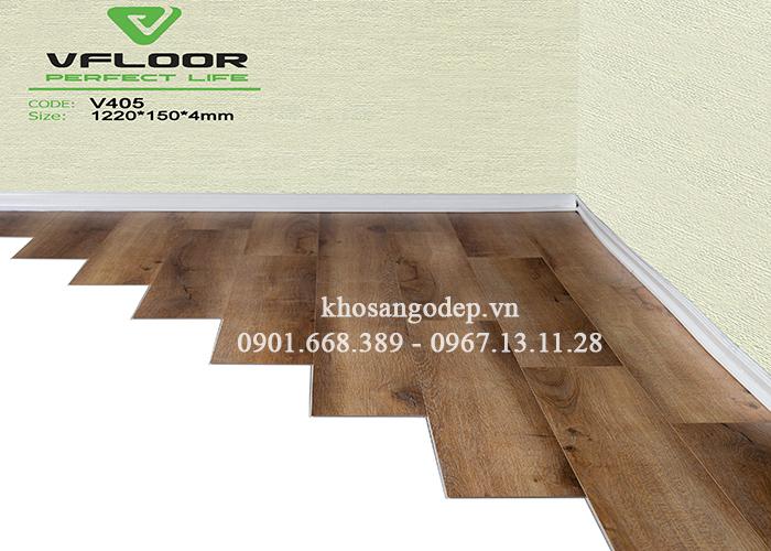 sàn nhựa hèm khóa Vfloor V405