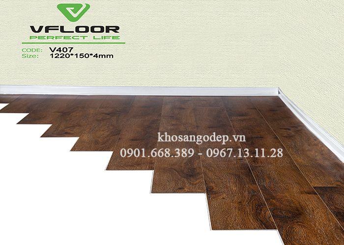 Sàn nhựa giả gỗ Vfloor V407
