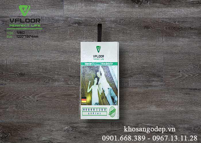 Sàn nhựa hèm khóa Vfloor V602