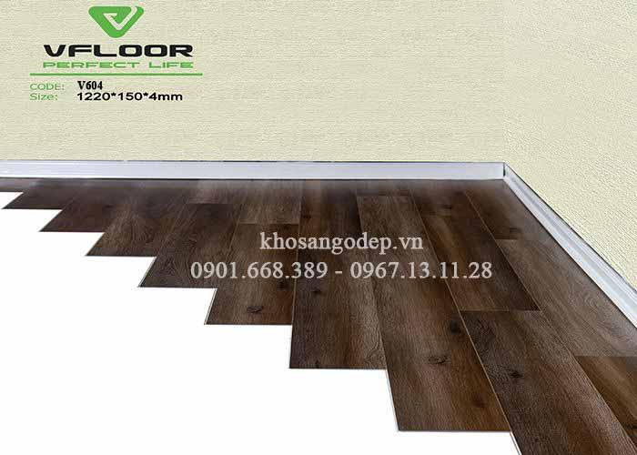 Sàn nhựa giả gỗ Vfloor V604