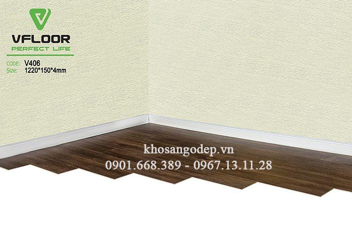 Sàn nhựa giả gỗ Vfloor V406