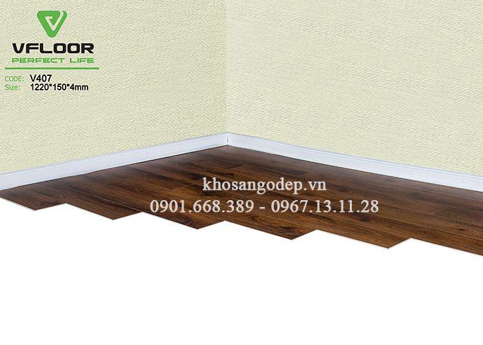 Sàn nhựa cao cấp Vfloor V407 4mm