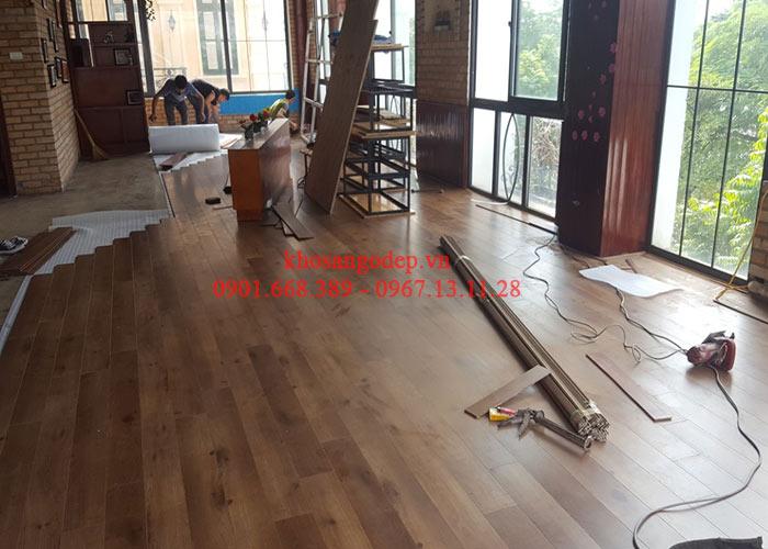 Thi công sàn gỗ Savi tại Hoàng Mai