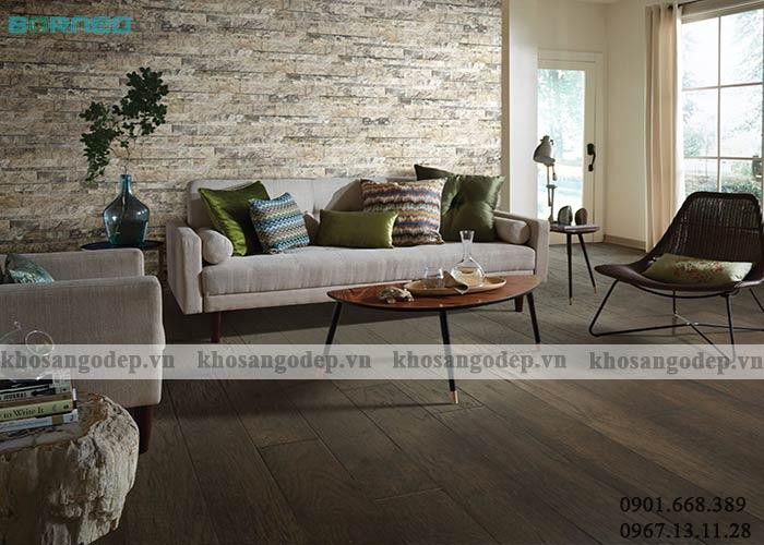 Phối màu sàn gỗ Borneo