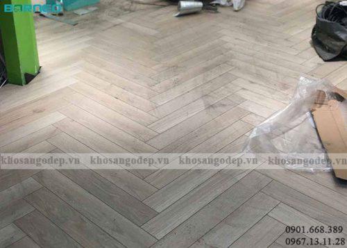 Sàn gỗ xương cá Borneo BN19710