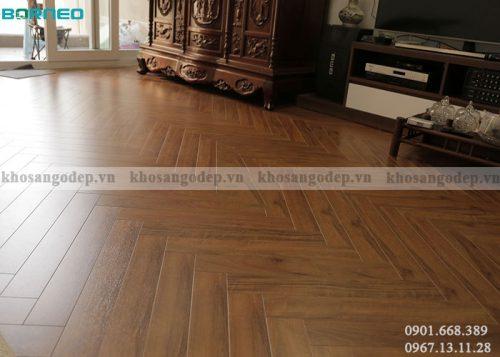Sàn gỗMalaysia Borneo xương cá BN19722