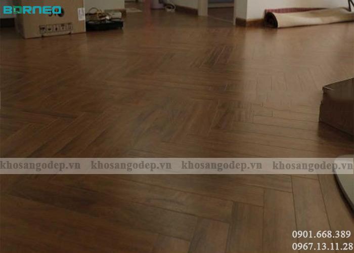 Sàn gỗ xương cá Borneo BN19722 tại Hà Nội