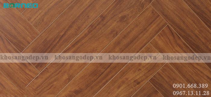Sàn gỗ xương cá Malaysia Borneo