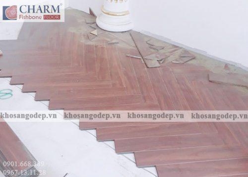 Sàn gỗ xương cá Charm C03 tại Hà Nội