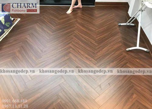 Sàn gỗ xương cá Charm C02 tại hà Nội