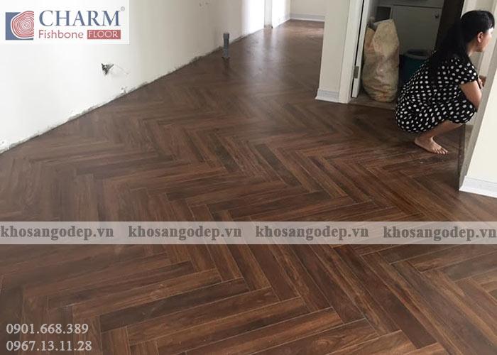 Sàn gỗ xương cá Charm C02