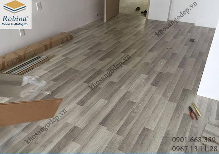 Thi công sàn gỗ Robina