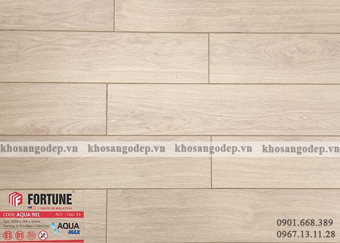 Sàn gỗ Malaysia Fortune Aqua 12mm 901