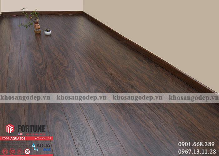 Sàn gỗ Malaysia Fortune 12mm 908 tại hà Nội