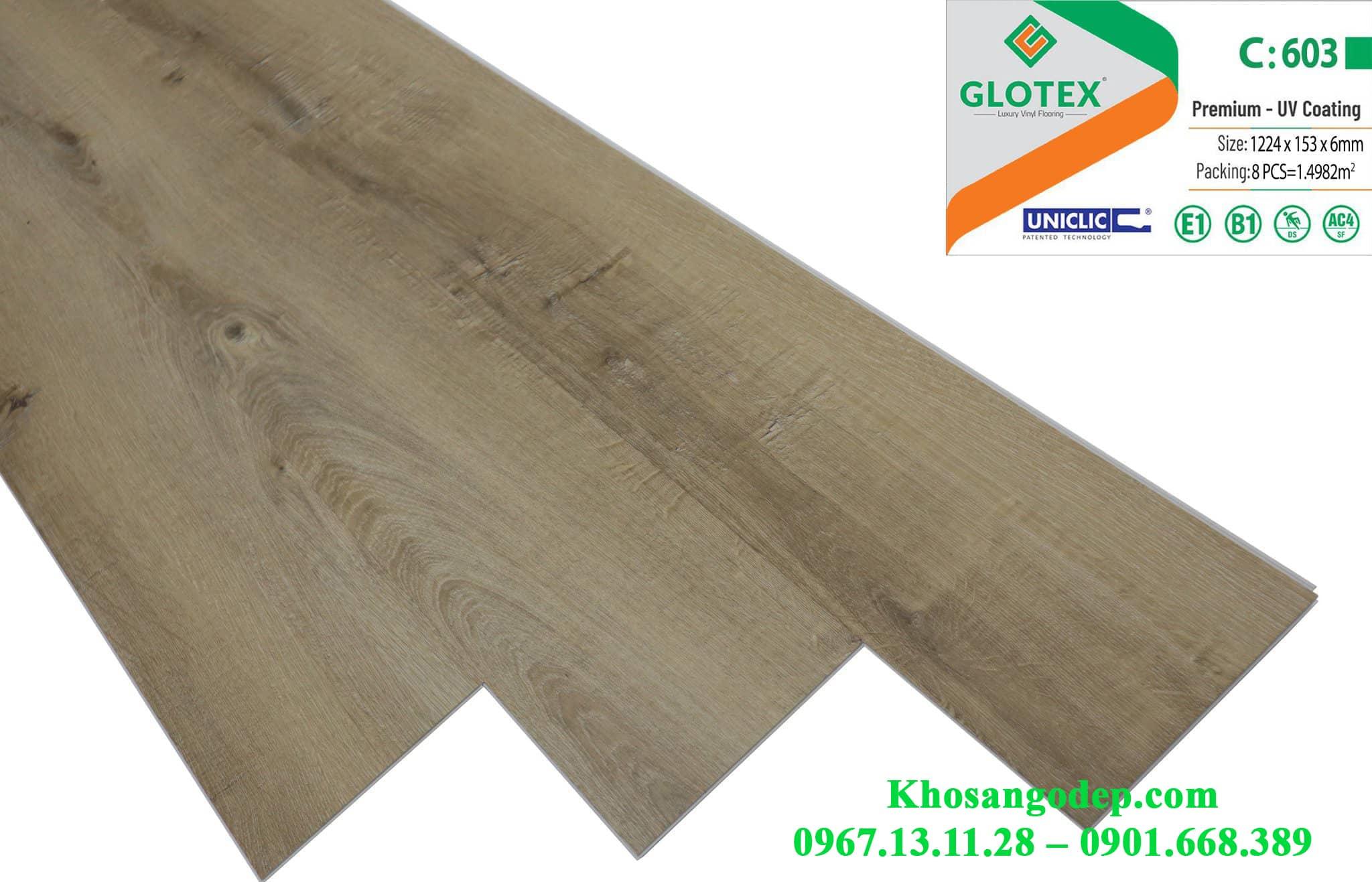 Sàn nhựa Glotex 6mm C603