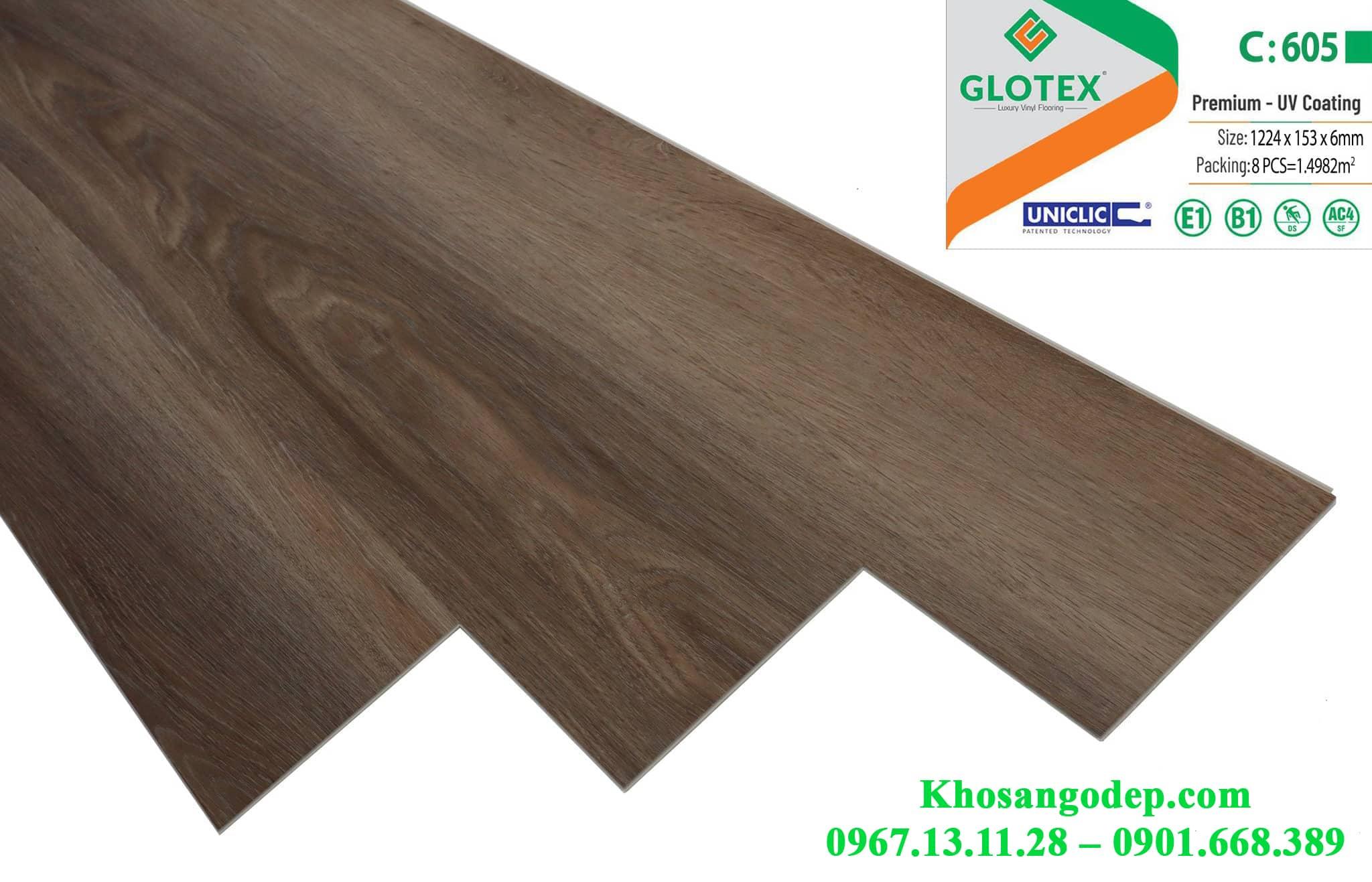 Sàn nhựa Glotex 6mm C605