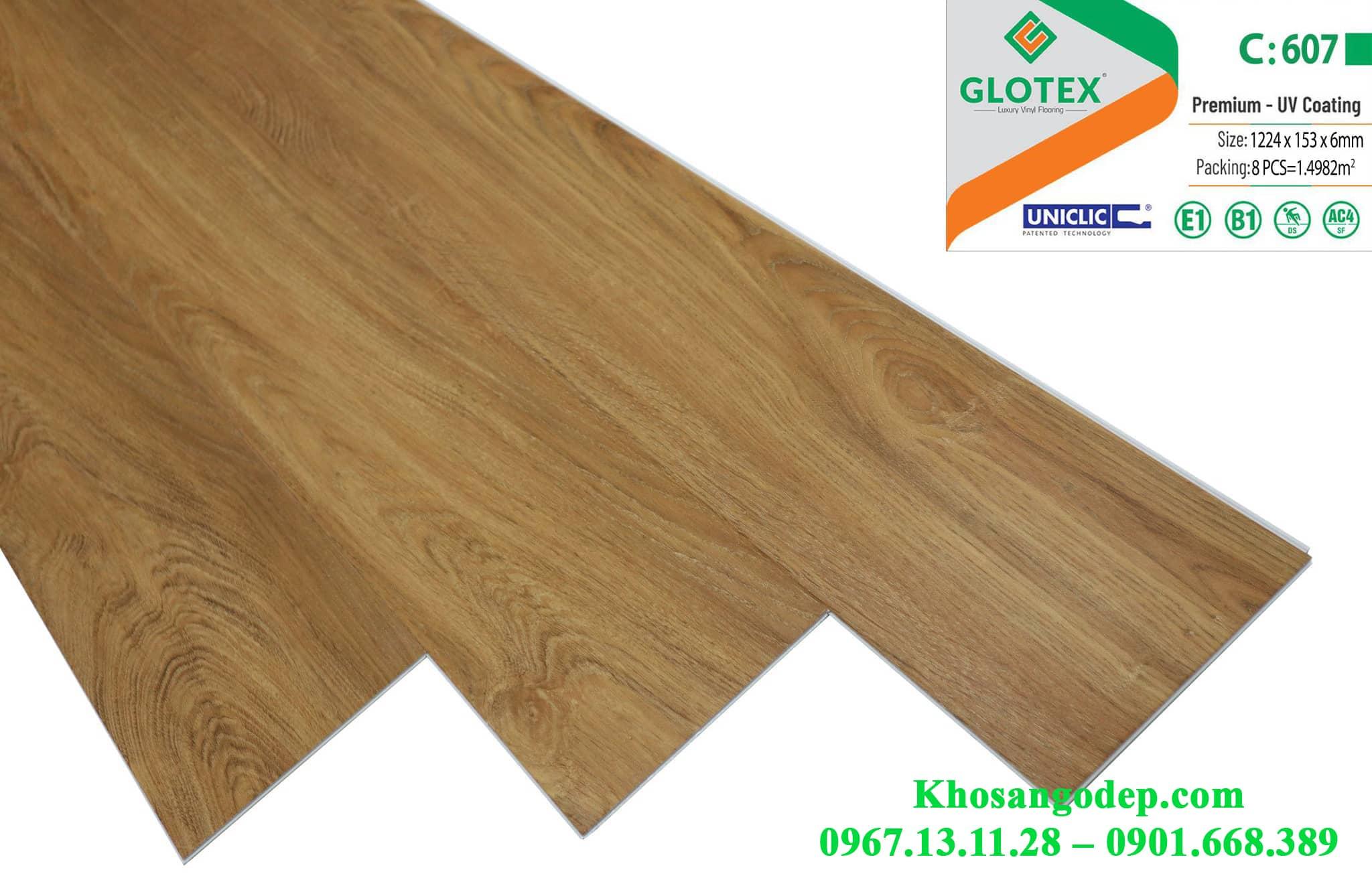 Sàn nhựa Glotex 6mm C607