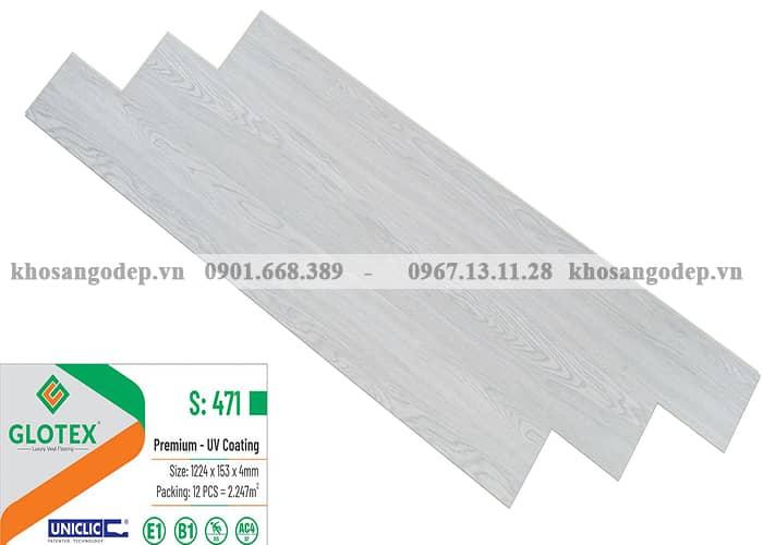 Sàn nhựa hèm khóa màu trắng