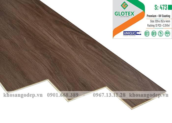 Sàn nhựa hèm khóa Glotex 4mm S473
