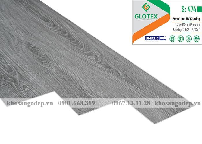 Sàn nhựa hèm khóa Glotex 4mm