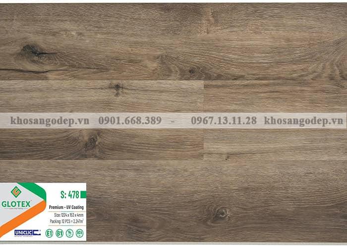 Sàn nhựa Glotex 4mm S478