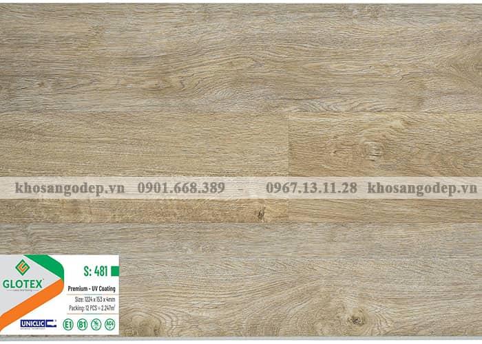 Sàn nhựa Glotex 4mm S481