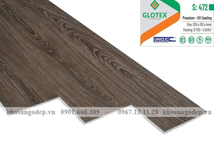 Sàn nhựa hèm khóa Glotex 4mm S472